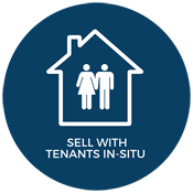 Sell with tenants in situ.