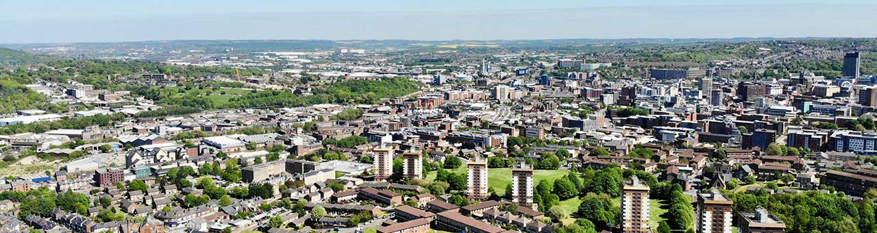 Sheffield Wide Shot of City