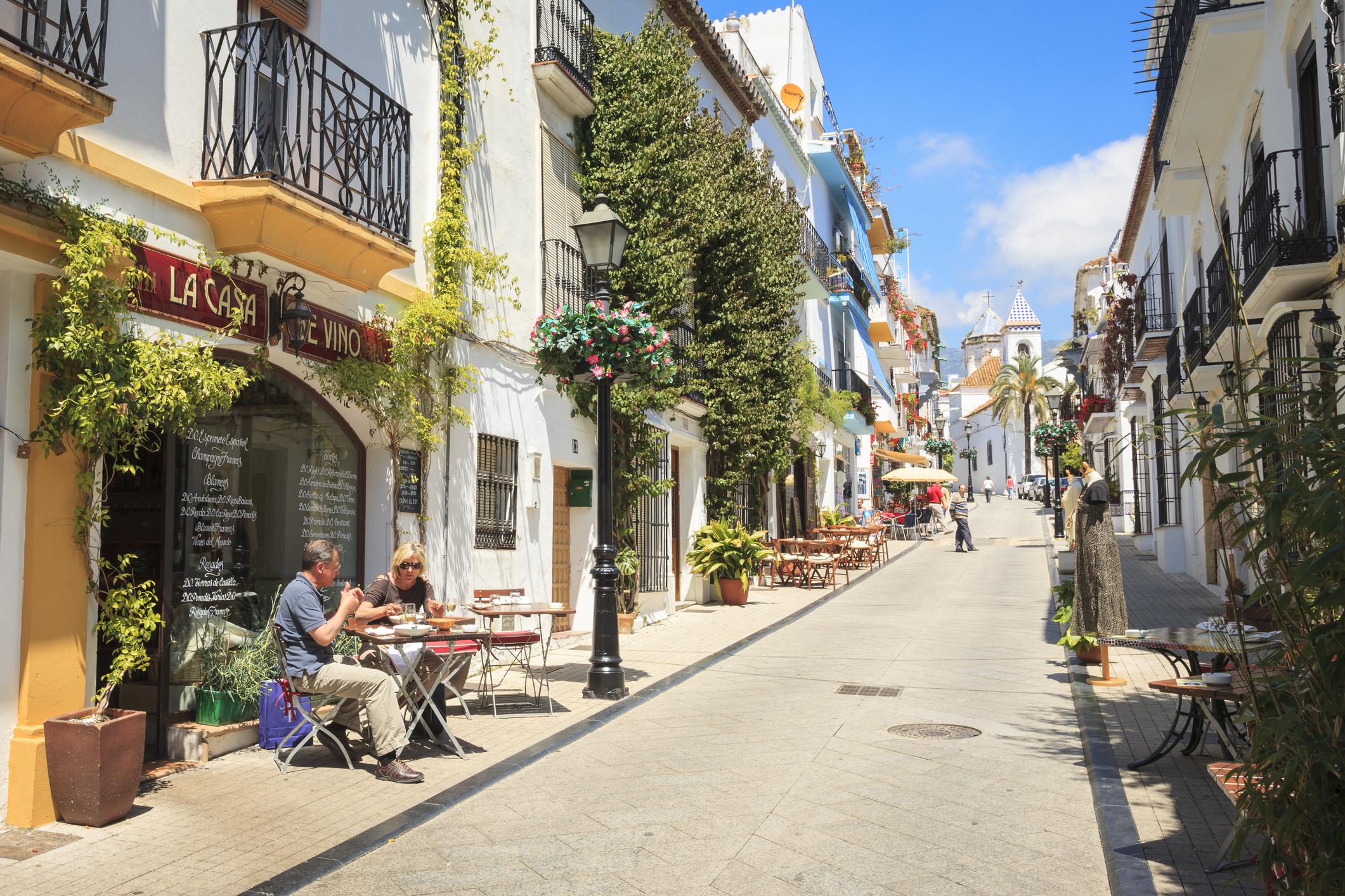 Side Street In Marbella