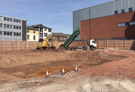 Sky Building - Construction Now Underway In Newcastle Under Lyme.