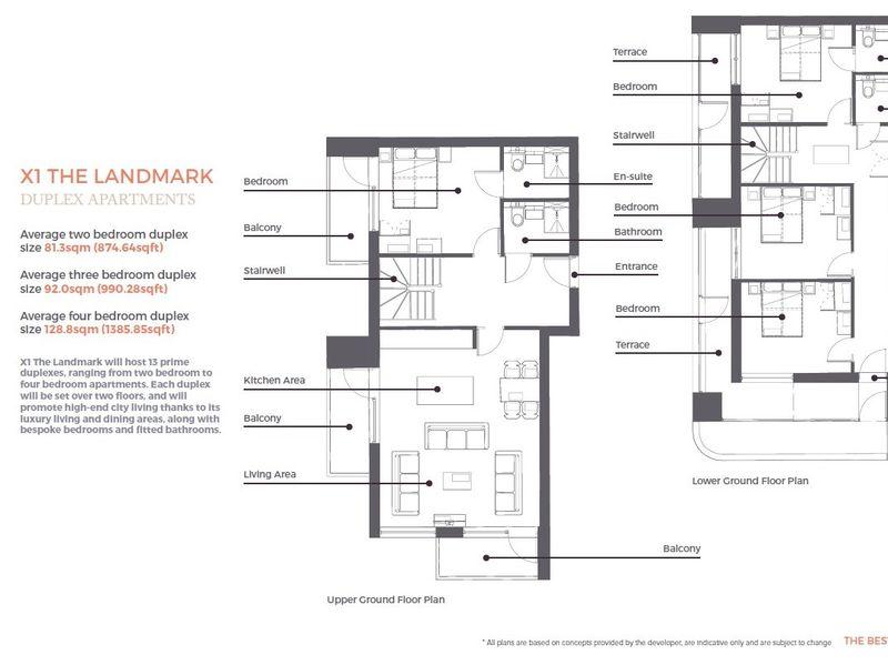 Landmark Duplex Apartment Floorplans