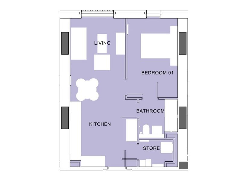 Tower 1 - One Bedroom Apartment