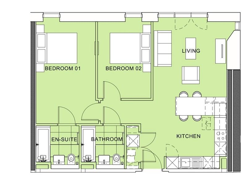Tower 2 - Two Bedroom Apartment