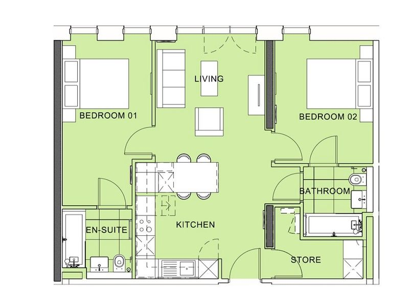 Tower 3 - Two Bedroom Apartment