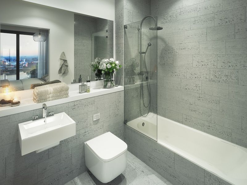 View of the bathroom, X1 Manchester Waters