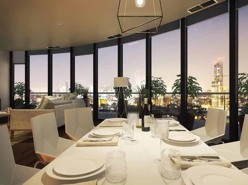 Luxurious Dining Room View, X1 Manchester Waters