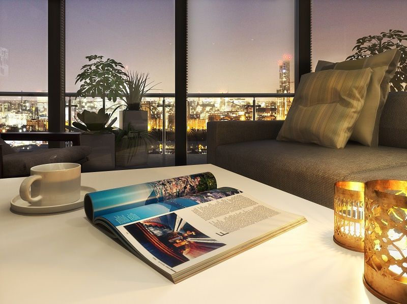 View of the Living Room area, X1 Manchester Waters